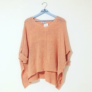 She + Sky Blush Loose Sweater